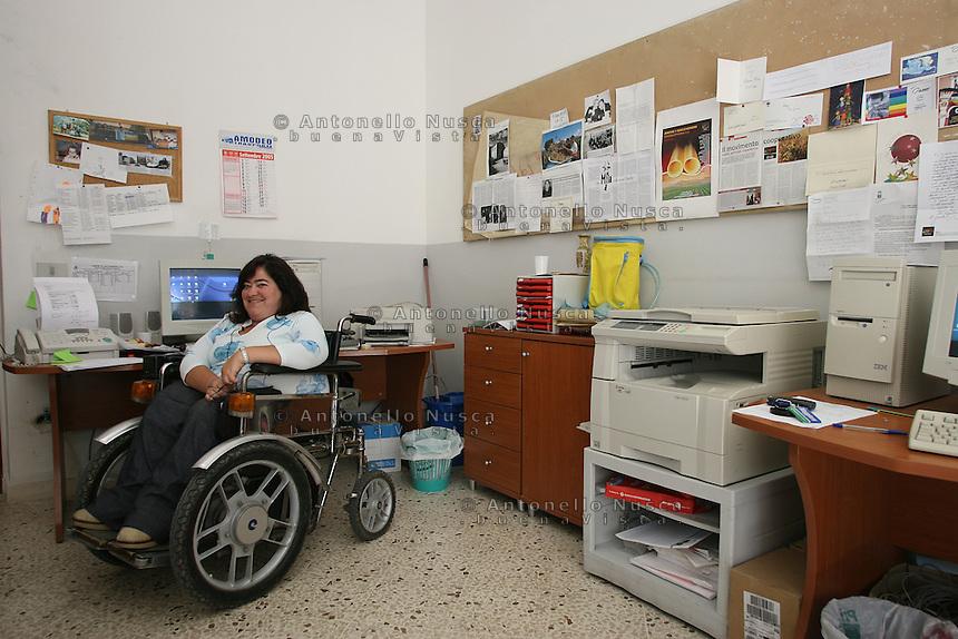 San Giuseppe Iato, Settembre 2005. Francesca Massimino , Vive Presidente della Cooperativa Placido Rizzotto