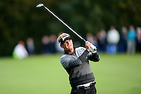Soren Kjeldsen of Denmark in action during Round 4 of the 2015 British Masters at the Marquess Course, Woburn, in Bedfordshire, England on 11/10/15.<br /> Picture: Richard Martin-Roberts | Golffile