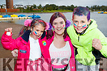 Pictured at the Colour Dash 5km Colour Run, in aid of Crumlin Children's Hospital at Tralee Bay Wetlands, on Sunday morning last were l-r: Caoimhe, Caroline and Wililam Somers (Tralee).