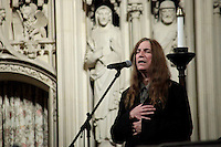 Singer Patti Smith performs during a ceremony and celebration of Rev. Martin Luther King, Jr. at the Riverside Church in New York, United States. 15/01/2012.  Photo by Kena Betancur / VIEWpress.