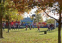 NWA Democrat-Gazette/BEN GOFF @NWABENGOFF<br /> Children play catch on Saturday Nov. 21, 2015 while tailgating before the Arkansas football game against Mississippi State in Fayetteville.