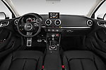 Straight dashboard view of a 2015 Audi A3 2.0 T DSG 4 Door Sedan