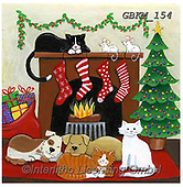 Kate, CHRISTMAS ANIMALS, WEIHNACHTEN TIERE, NAVIDAD ANIMALES, paintings+++++Christmas page 43 1,GBKM154,#xa# ,cat,cats