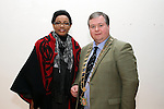 Kenya Ambassador, Catherine Muigai Mwangi with Mayor Paul Bell at the Reception for the Kenyan Ambassador to Ireland in the Droichead Arts Centre...(Photo credit should read Jenny Matthews www.newsfile.ie)....This Picture has been sent you under the condtions enclosed by:.Newsfile Ltd..The Studio,.Millmount Abbey,.Drogheda,.Co Meath..Ireland..Tel: +353(0)41-9871240.Fax: +353(0)41-9871260.GSM: +353(0)86-2500958.email: pictures@newsfile.ie.www.newsfile.ie.