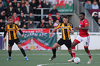 Mike Fondop of Wrexham in action during Maidstone United vs Wrexham, Vanarama National League Football at the Gallagher Stadium on 17th November 2018