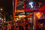 View of the ThunderRoad Cafe, Dublin, Ireland, on a busy Friday night in September.
