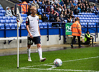 Bolton Wanderers' James Weir preparing to take a corner kick<br /> <br /> Photographer Andrew Kearns/CameraSport<br /> <br /> The EFL Sky Bet Championship - Bolton Wanderers v Coventry City - Saturday 10th August 2019 - University of Bolton Stadium - Bolton<br /> <br /> World Copyright © 2019 CameraSport. All rights reserved. 43 Linden Ave. Countesthorpe. Leicester. England. LE8 5PG - Tel: +44 (0) 116 277 4147 - admin@camerasport.com - www.camerasport.com