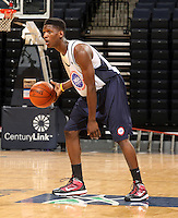 Dai-Jon Parker at the NBPA Top100 camp June 17, 2010 at the John Paul Jones Arena in Charlottesville, VA. Visit www.nbpatop100.blogspot.com for more photos. (Photo © Andrew Shurtleff)