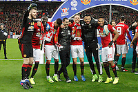 Manchester United celebrate winning the EFL Cup Final match between Manchester United and Southampton at Wembley Stadium on February 26th 2017 in London, England<br /> Londra Wembley Stadium Southampton vs Manchester United - EFL League Cup Finale - 26/02/2017 <br /> Foto Phcimages/Panoramic/Insidefoto