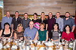 Ann O'Donnell,Lisselton celebrating a special Birthday with family and friends at No.4 the Square Tralee on Saturday Pictured front l-r Aina Fitzgerald, Geraldine Slattery, Pat O'Donnell, Ann O'Donnell, Brenda Pierce, Ann Horigan. Back l-r Liam Fitzgerald, Willie Joe Leane, Joe Slattery, Sheila Leane, Rosalyn Godley, David Leane, Risteard Pierce, Eoin Horigan