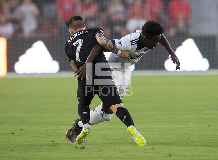 AWashington, DC - July 14, 2018: D.C. United defeated the Vancouver Whitecaps 3-1 during a Major League Soccer (MLS) match at Audi Field.