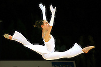 Romina Laurito of Italy split leaps during gala at 2006 Thiais Grand Prix in Paris, France on March 26, 2006.  (Photo by Tom Theobald)