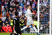 9th December 2017, Santiago Bernabeu, Madrid, Spain; La Liga football, Real Madrid versus Sevilla; Cristiano Ronaldo  of Real Madrid celebrates the (3,0) after scoring his sides goal