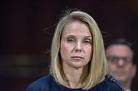 WASHINGTON, DC - NOVEMBER 8:  Marissa Mayer, former CEO of Yahoo tesifies at a Congressional hearing on Consumer Data breach.<br /> <br /> Credit: Patsy Lynch/MediaPunch