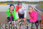 Cycling in the Heros week cycle from the Tralee Wetlands to Dingle on Sunday were Joanne Allman, Joe Sheehy, Sinead Kelleher.