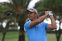 Ricardo Santos (POR) on the 10th tee during the Pro-Am of the Challenge Tour Grand Final 2019 at Club de Golf Alcanada, Port d'Alcúdia, Mallorca, Spain on Wednesday 6th November 2019.<br /> Picture:  Thos Caffrey / Golffile<br /> <br /> All photo usage must carry mandatory copyright credit (© Golffile | Thos Caffrey)