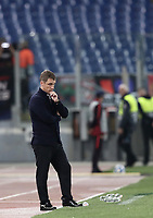 Football Soccer: UEFA Champions League  AS Roma vs PFC CSKA Mosca Stadio Olimpico Rome, Italy, October 23, 2018. <br /> CSKA Mosca's coach Viktar Hancharenka looks on during the Uefa Champions League football soccer match between AS Roma and PFC CSKA Mosca at Rome's Olympic stadium, October 23, 2018.<br /> UPDATE IMAGES PRESS/Isabella Bonotto