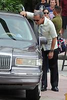 MIAMI BEACH , FL - MAY 15:  Ed Harris and Tony Plana on the movie set of Pain & Gain on May 15, 2012 in Miami Beach, Florida. ©mpi04/MediaPunch Inc.