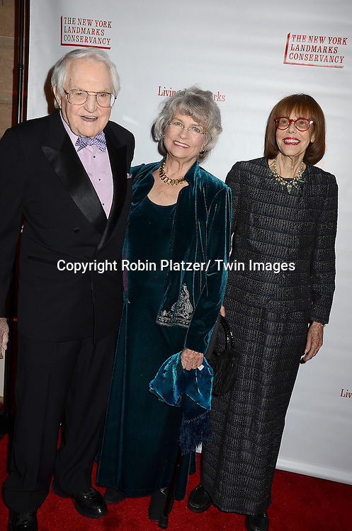Lewis B Cullman and Louise Kerz Hirschfeld and Barbara Goldsmith arrives at the  New York Landmarks Conservancy's  2012 Living Landmarks Gala on November 8, 2012 at the Plaza Hotel in New York City. The honorees were Daniel Boulud, Liza Minnelli, James M Nederlander, James L Nederlander and John Rosenwald, Jr, and Peter Malkin.