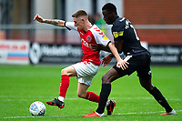 Fleetwood Town's Ashley Hunter vies for possession with Shrewsbury Town's Joshua Emmanuel<br /> <br /> Photographer Richard Martin-Roberts/CameraSport<br /> <br /> The EFL Sky Bet League One - Fleetwood Town v Shrewsbury Town - Saturday 13th October 2018 - Highbury Stadium - Fleetwood<br /> <br /> World Copyright &not;&copy; 2018 CameraSport. All rights reserved. 43 Linden Ave. Countesthorpe. Leicester. England. LE8 5PG - Tel: +44 (0) 116 277 4147 - admin@camerasport.com - www.camerasport.com