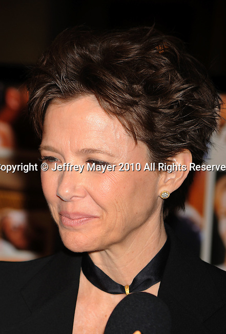 """HOLLYWOOD, CA. - April 19: Annette Bening  arrives at the Los Angeles Premiere of """"Mother And Child"""" at the Egyptian Theatre on April 19, 2010 in Hollywood, California."""