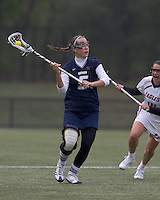 University of New Hampshire defender Erin Levesque (5) at midfield. Boston College defeated University of New Hampshire, 11-6, at Newton Campus Field, May 1, 2012.