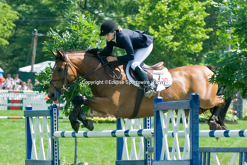 07 June 2009: Invitational, owned by Linda Sheridan and ridden by Linda Sheridan of USA, in the $100,000 Upperville Budweiser Jumper Classic