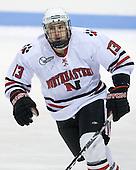 Randy Guzior (NU - 13) - The Northeastern University Huskies defeated the Bentley University Falcons 3-2 on Friday, October 16, 2009, at Matthews Arena in Boston, Massachusetts..