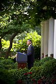 United States President Barack Obama delivers remarks on Wall Street reform legislation in the Rose Garden of the White House, Thursday, May 20, 2010..Mandatory Credit: Samantha Appleton - White House via CNP