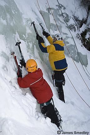 Family ice climbing adventure