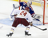 Bill Arnold (BC - 24), Doug Carr (UML - 31) - The Boston College Eagles defeated the visiting University of Massachusetts Lowell River Hawks 6-3 on Sunday, October 28, 2012, at Kelley Rink in Conte Forum in Chestnut Hill, Massachusetts.