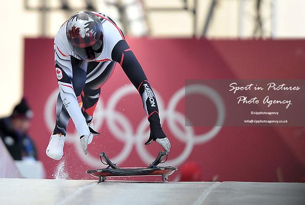Elisabeth Vathje (CAN). Womens Skeleton training. Pyeongchang2018 winter Olympics. Olympic sliding centre. Alpensia. Pyeongchang. Republic of Korea. 07/02/2018. ~ MANDATORY CREDIT Garry Bowden/SIPPA - NO UNAUTHORISED USE - +44 7837 394578