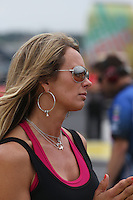 May 11, 2013; Commerce, GA, USA: NHRA wife of pro stock driver Shane Gray during the Southern Nationals at Atlanta Dragway. Mandatory Credit: Mark J. Rebilas-