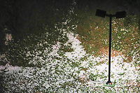 BELO HORIZONTE, MG, 06.08.2018 - CIDADE-MG - Chuva de granizo, na região Noroeste, na cidade de Belo Horizonte, nesta segunda-feira, 06. (Foto: Doug Patricio/Brazil Photo Press)