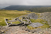 Abandonned slate quarry, high above the Croesor Valley in the Snowdonia National Park.