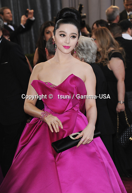 Fan Bing Bing 360 arriving at the 85th Academy Awards 2013 - Oscars - at the Dolby Theatre in Los Angeles.