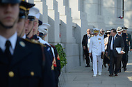 May 30, 2011 (Washington, DC) Chairman of the Joint Chiefs of Staff, Admiral Mike Mullen, at the World War II Memorial.  Adm. Mullen was the keynote speaker at the memorial day ceremony held in Washington.  (Photo: Don Baxter/Media Images International)