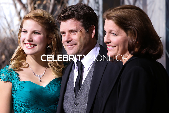 "HOLLYWOOD, CA - DECEMBER 02: Christine Harrell Astin, Sean Astin, Alexandra Astin arriving at the Los Angeles Premiere Of Warner Bros' ""The Hobbit: The Desolation Of Smaug"" held at Dolby Theatre on December 2, 2013 in Hollywood, California. (Photo by Xavier Collin/Celebrity Monitor)"