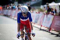 National French TT champion Benjamin Thomas (FRA/Groupama - FDJ) finishing stage 10 (ITT) from Jurançon to Pau (36.2km) > in FRANCE!<br /> <br /> La Vuelta 2019<br /> <br /> ©kramon