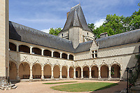 France, Indre (36), Argy, château d'Argy, les galeries renaissance // France, Indre, Argy, castle of Argy, the Renaissance Long Gallery