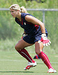 28 July 2006: Goalkeeper Hope Solo. The United States Women's National Team trained at SAS Soccer Park in Cary, North Carolina, in preparation for an International Friendly match against Canada to be played on Sunday, July 30.
