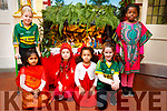 Presentation primary School play on Wednesday 13th December, Front Row: Ansha Rahman, April Rosa Kennedy, Ewa Quirke, Kate Brick. Back Row: (standing) Siobhan O Mahony, Ashley Preko.