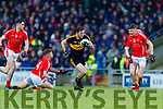 Daithi Casey, Dr Crokes in action against Niall Donohue, East Kerry  during the Kerry County Senior Club Football Championship Final match between East Kerry and Dr. Crokes at Austin Stack Park in Tralee, Kerry.