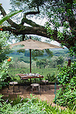 TANZANIA, a breakfast set up overlooking Coffee Plantation in Gibbs Farm