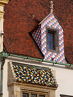 Dach altes Rathaus, Hauptplatz Hlavne nam.,  Bratislava, Bratislavsky kraj, Slowakei, Europa<br /> roof of old townhall, Bratislava, Bratislavsky kraj, Slovakia, Europe