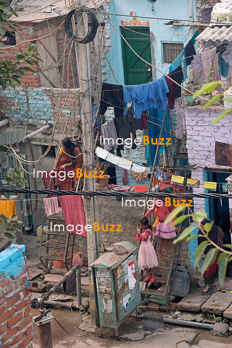 GOVINDPURI SLUM<br /> cleaned up for the Royal Visit, New Delhi, India_08/11/2013.<br /> The couple are on a 9-day tour of