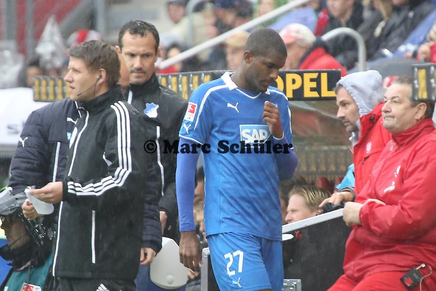 Anthony Modeste (Hoffenheim) wird verletzt ausgewechselt - 1. FSV Mainz 05 vs. TSG 1899 Hoffenheim, Coface Arena, 8. Spieltag