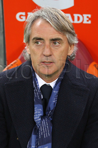 19.03.2016. Stadium Olimpico, Rome, Italy.  Serie A football league. AS Roma versus Inter Milan. Roberto Mancini coach of Inter Milan