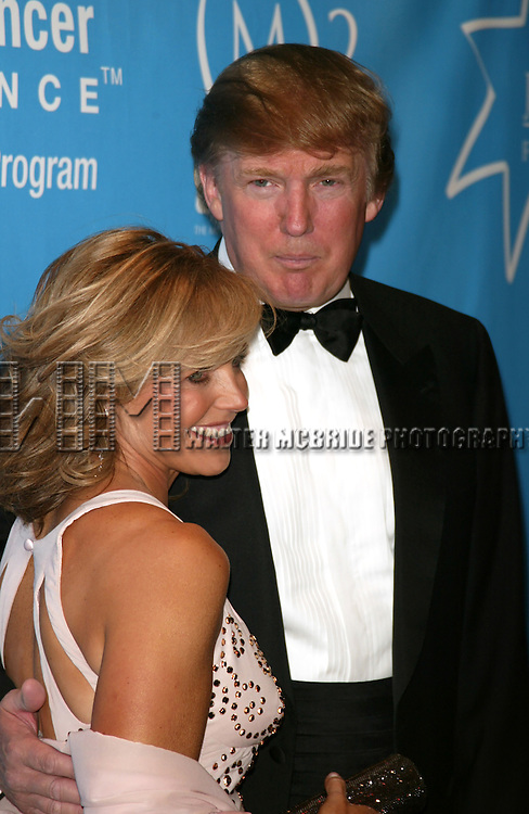 Katie Couric and Donald Trump attending the Star-Studded Benefit, &quot;Some Enchanted Evening&quot;,  for EIF's National Colorectal Cancer Research Alliane and the Jay Monahan Center for Gastrointestinal Health on Cunard's Queen Mary 2 in New York City on <br />April 24, 2004