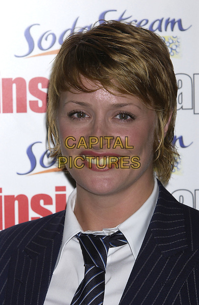 LAURIE BRETT.Inside Soap Awards Party, La Rascasse, Cafe Grand Prix, London, September 27th 2004..portrait headshot man's suit masculine tie pinstripe jacket.Ref: PL.www.capitalpictures.com.sales@capitalpictures.com.©Capital Pictures.